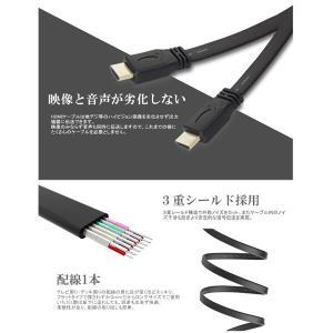 HDMIケーブル 薄型 スリム フラット 5m...の詳細画像3