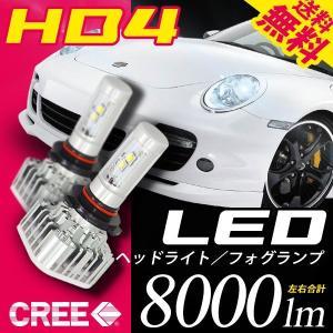 HB4 LED ヘッドライト LED フォグランプ 左右合計8000lm CREE チップ搭載 6000K 送料無料|illumi