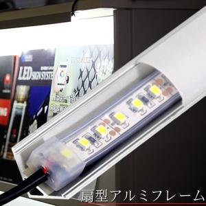 テープライト用 扇型アルミフレーム1m 乳白色カバー  ※テープライト別売|illumica-y