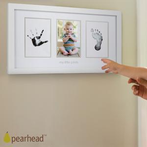 メモリアルグッズ/手形足形/ pearhead  ペアヘッド ベビープリント・フォトフレーム ホワイト NZPH13032 ilovebaby-y