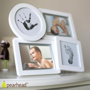 メモリアルグッズ 手形足型 pearhead ペアヘッド  pearhead  ペアヘッド ベビープリント・コラージュフレーム ホワイト NZPH13041 ilovebaby-y