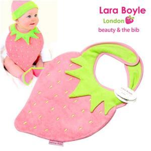 赤ちゃんスタイ よだれかけ ララボイル 着せるよだれかけ ストロベリービブ ファニーベリー|ilovebaby