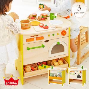 おもちゃ キッチン 木のおもちゃ ままごと 木製 エドインター 森のアイランドキッチン 808733