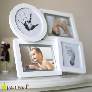 メモリアルグッズ 手形足型 pearhead ペアヘッド  pearhead (ペアヘッド) ベビープリント・コラージュフレーム ホワイト NZPH13041 ilovebaby