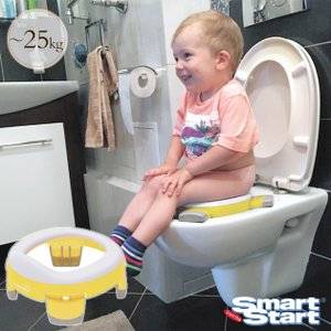 トイレトレーニング おまる 補助便座 洋式 シート Smart Start(スマート スタート) ハンディポッティ(ライナー3枚入り)  イエロー 12450001|ilovebaby