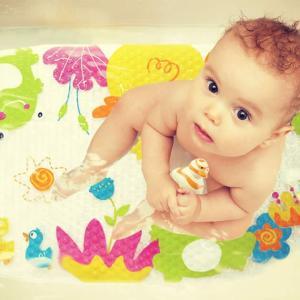 滑り止め お風呂マット すべり止め 可愛い 赤ちゃん ベビー 吸盤付き ノンスリップバスマット|ilovebaby
