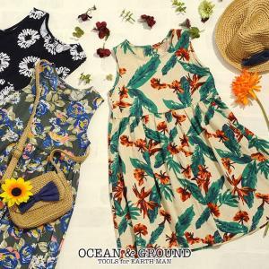 OCEAN&GROUND(オーシャンアンドグラウンド) ALOHA SUMMER DRESS アロハサマードレス|ilovebaby