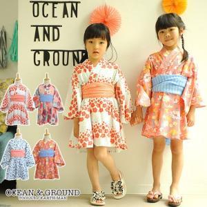 浴衣 ドレス 子供用 キッズ ゆかた 女の子 OCEAN&GROUND(オーシャンアンドグラウンド)  浴衣ワンピース|ilovebaby