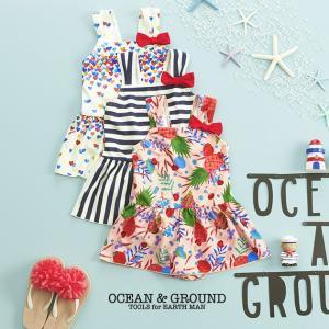 水着 女の子 子供 キッズ ワンピース OCEAN&GROUND(オーシャンアンドグラウンド) GIRL'S 水着 リボンフレアワンピース|ilovebaby