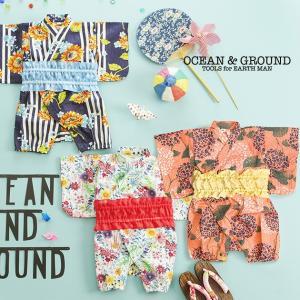 子供 女の子 夏祭り 浴衣 保育園 OCEAN&GROUND(オーシャンアンドグラウンド) 甚平ロンパス|ilovebaby