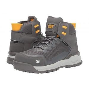 Caterpillar キャタピラー レディース 女性用 シューズ 靴 ブーツ 安全靴 ワークブーツ Propulsion Waterproof Composite Toe - Medium Charcoal Nubuck|ilovela