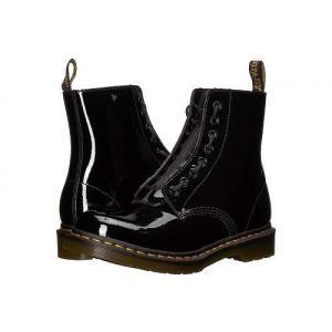 Dr. Martens ドクターマーチン レディース 女性用 シューズ 靴 ブーツ 安全靴 ワークブーツ 1460 Pascal Front Zip - Black|ilovela