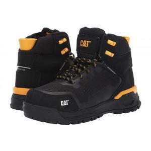 Caterpillar キャタピラー レディース 女性用 シューズ 靴 ブーツ 安全靴 ワークブーツ Propulsion Waterproof Composite Toe - Black Nubuck|ilovela