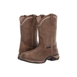 Ariat アリアト レディース 女性用 シューズ 靴 ブーツ 安全靴 ワークブーツ Anthem Deco Composite Toe - Brown Bomber|ilovela