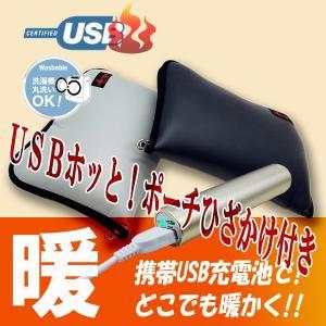 HOTTEM USB対応あったかポーチ(毛布付き)グレイ...