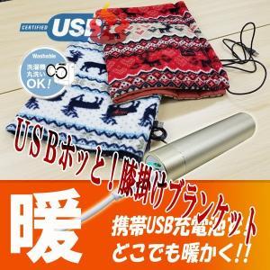 HOTTEM USB対応あったか膝掛けブランケット(アイボリ...
