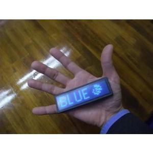 LEDネームプレート(青色LED) 携帯できる名刺サイズ10cmの超極小型LED電光掲示板表示器 省エネ・節電対応|ilsung-y|03