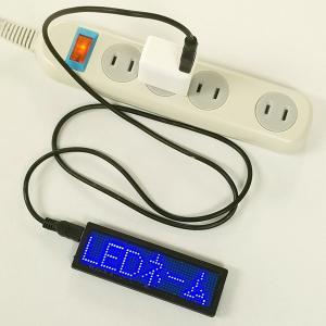 LEDネームプレート(青色LED) 携帯できる名刺サイズ10cmの超極小型LED電光掲示板表示器 省エネ・節電対応|ilsung-y|08