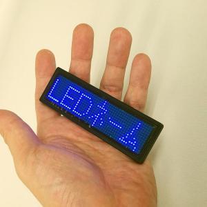 LEDネームプレート(青色LED) 携帯できる名刺サイズ10cmの超極小型LED電光掲示板表示器 省エネ・節電対応|ilsung-y|10