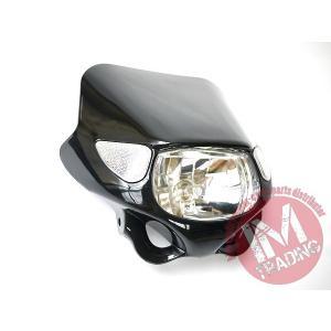 ウインカー付きヘッドライト ブラック 汎用品 Dトラッカー KSR110 KSR1 KSR2 KDX220 KLX250 シェルパ KLX125 Dトラッカー125等に im-trading