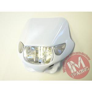 ウインカー付きヘッドライト ホワイト 汎用品 Dトラッカー KSR110 KSR1 KSR2 KDX220 KLX250 シェルパ KLX125 Dトラッカー125等に im-trading