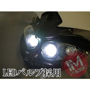 LEDイーグルアイヘッドライトマスク ブラック/ホワイト 1W/6000K 汎用品 スポーツスター XL883 XL1200 ダイナ ソフテイル等に|im-trading