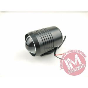 LEDプロジェクターフォグCREE U2 10W ブラック ビレットアルミ スポーツスター ダイナ エボ ソフテイル ショベル|im-trading