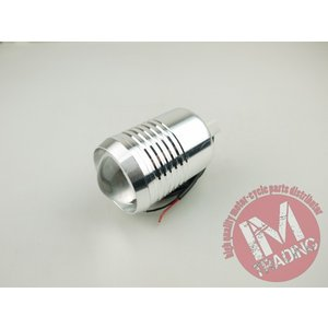 LEDプロジェクターフォグCREE U2 10W シルバー ビレットアルミ im-trading
