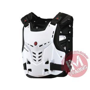 SCOYCO バイク用チェストガード 胸部プロテクター ホワイト 各サイズ有りAM05|im-trading