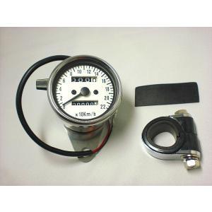 220km/hLEDスピードメーター 白 LEDバックライト 汎用品|im-trading
