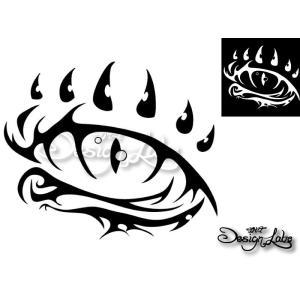 ドラゴンアイ デザインカッティングステッカー カラーバリエーション有(黒・白) Dragon-Eye 龍 瞳 大型 im-trading