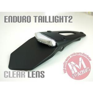 LEDエンデューロテール2ナンバー灯付き クリアレンズ 汎用品 ビューエル トライアンフ ドゥカティ KTM アプリリア等に|im-trading