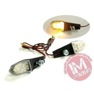 LEDライトアングルウインカー クリアレンズ仕様 左右セット 汎用品ビューエル トライアンフ ドゥカティ KTM アプリリア等に|im-trading