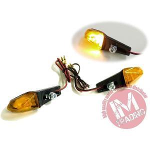 LEDライトアングルウインカー オレンジレンズ仕様 左右セット 汎用品RMX250 DRZ400SM GSR250 GSR400 GSR750 グラストラッカー等に|im-trading