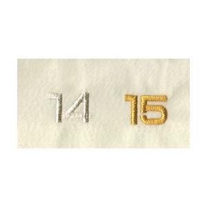 名入れ刺繍 文字の追加(11文字以上)カラー金・銀 文字の大きさ1.3cm角