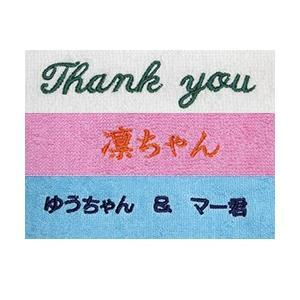名入れ刺繍 2cm文字の追加(11文字以上)