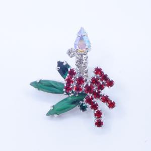 (イマック) imac バッジ ラインストーン キャンドル クリアカラー レッド グリーン 149005 imac-jewelry