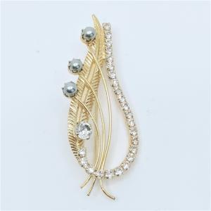 (イマック) imac ブローチ ラインストーン ボタニカル ゴールド 148864|imac-jewelry
