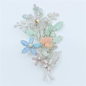 (イマック) imac ブローチ ラインストーン フラワー パステルカラー 150954|imac-jewelry