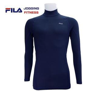 FILA/フィラ メンズ コンプレッション 長袖ハイネック 445-111|image-golf
