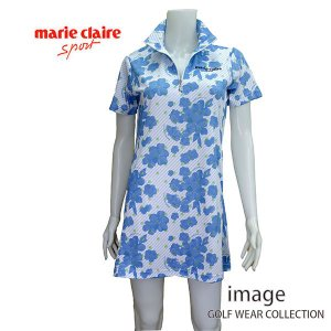 マリクレール レディス 半袖チュニックシャツ 718402 image-golf