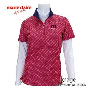 マリクレール レディス 半袖シャツ+インナーセット 736503|image-golf