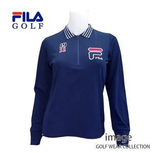 FILA フィラ  ゴルフ レディス 長袖 ポロシャツ 796547 image-golf