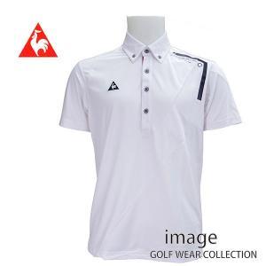50%OFF! ルコック ゴルフ メンズ 半袖メッシュ切り替えBDシャツ QG2964|image-golf
