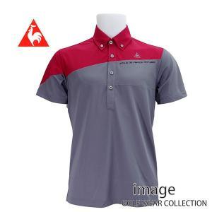 50%OFF! ルコック ゴルフ メンズ 半袖切り替えBDシャツ QG2966|image-golf