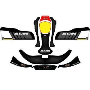レーシングカート用 カウルステッカー NA2用 06CRG-AMG 特注品|imagine-style