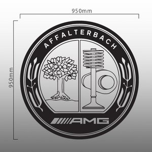 【ネコポス不可】AMG アッファルターバッハ AFFALTERBACH 特大ロゴ 切抜きステッカー 95cm カッティング(デカール シール)|imagine-style