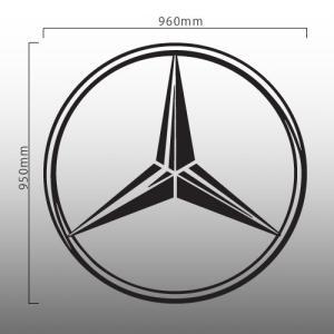 【ネコポス不可】メルセデスベンツ Mercedes Benz 特大ロゴ 切抜きステッカー 95cm カッティング(デカール シール)|imagine-style