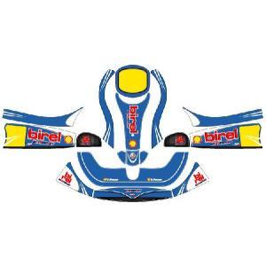 レーシングカート用 カウルステッカー フリーライン用 birel仕様 ブルー 特注品|imagine-style