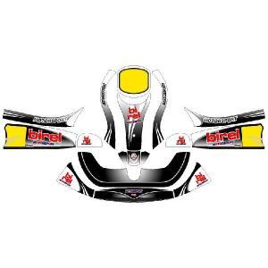 レーシングカート用 カウルステッカー フリーライン用bF-08-K 特注品|imagine-style